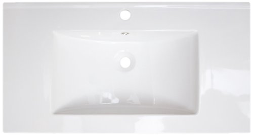 American Imaginations 280 32-Inch by 18-Inch White Ceramic Top with Single Hole