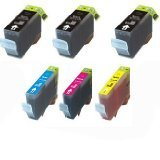 ValleyBuy Remanufactured Ink Cartridges Replacement for Epson 127, T0127 (3xBlack, Cyan, Magenta, Yellow , 6-Pack)