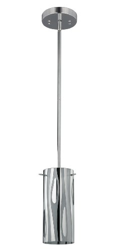 Canarm Ltd. Ipl125B01Ch Kimberly 1 Bulb Mini Pendant Light, Chrome front-78504