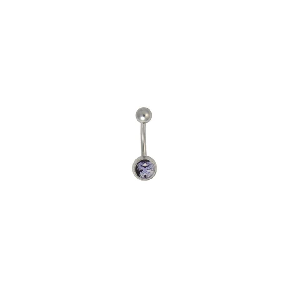 YING YANG DRAGON Belly Ring Navel RINGS Body Jewelry