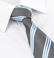 Longer Length Ultimate Pure Silk Textured Striped Woven Tie