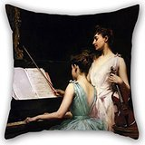 elegancebeauty-cushion-cases-of-oil-painting-irving-ramsay-wiles-the-sonata-20-x-20-inches-50-by-50-