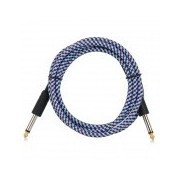 Electric Drum Guitar Bass Male to Male AV / Shielding Cable Cord w/ 6.35mm - Blue + Red (160cm) Blue + Red + MultiColored