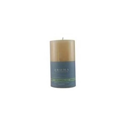 Mediation Aromatherapy 2.75 X 5 inch PILLAR AROMATHERAPY CANDLE. COMBINES THE ESSENTIAL OILS OF PATCHOULI & FRANKINCENSE TO CREATE A WARM AND COMFORTABLE ATMOSPHERE. BURNS APPROX. 75 HRS.
