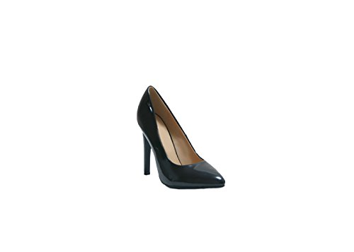 JustGlam - Scarpe donna decolletè in vernice a punta c/tacco a stiletto 10,5 cm new collection must have made in italy / nero 38