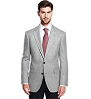 Collezione Luxury Wool Rich 2 Button Textured Jacket