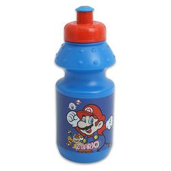 7in Blue Super Mario Squeeze Waterbottle - Childrens Waterbottle