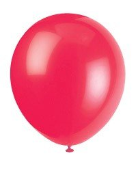 "Ruby Red 12"" Latex Balloon 10 Count - 1"