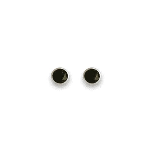 Sterling Silver 4mm round Stud Earrings Onyx - SIZE: 4mm . Shipped in our quality Silver Gift Box by 1st class mail.