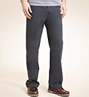 Shorter Length Pure Cotton Active Waistband Regular Fit Chinos