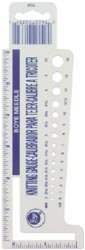 "Bulk Buy: Boye Plastic Knit Gauge With 6"" Ruler & 2"" Stitch Measure 7525 (3-Pack)"