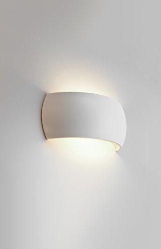 Wall Light Ceramic Uplighter : Astro Lighting 7073 Milo 1 Light Ceramic Wall Light uplighter / Downlighter Lighting