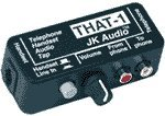JK Audio THAT-1 Compact Telephone Audio Interface with RCA I/O