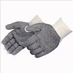Liberty Glove-Men's Cotton String Gloves With Pvc Dots On Both Sides, 12 Pairs