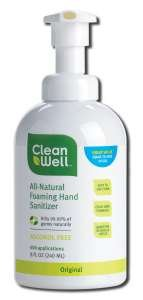 CleanWell-Foaming-Hand-Sanitizer-8-oz-Liquid