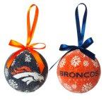 Nfl Licensed Led Light-Up Ornament Set Of 2 (Denver Broncos)