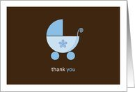 Thank you for the Baby Gift Blue Stroller Card
