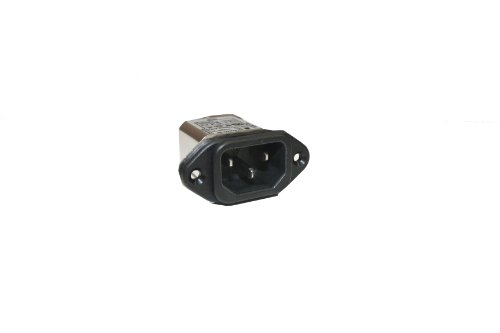 Interpower 83510413 Two Function Power Entry Module, C14 inlet, Filter, 8A Current Rating, 115/250VAC Voltage Rating (Iec Power Cord Filter compare prices)