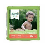 Seventh Generation Baby Free and Clear Diapers Stage 4: 22-37 lbs -- 27 Diapers