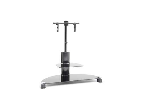 Techlink AVATAR PTV7BBG Audio Visual Furniture Black Legs with Black Glass TV Mounting Bracket - Suitable for Screens 32 to 50 inches.