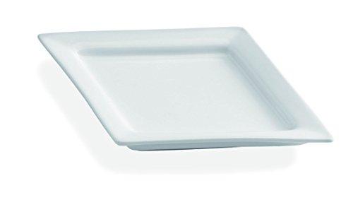 21 x 15 cm plato de fiesta Tognana rebosadero cromado, blanco