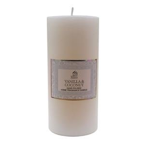 VANILLA & COCONUT - Shearer Scented Candles - 15cm PILLAR CANDLE - 85 Hours