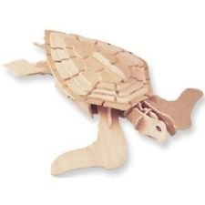 Museum Quality Green Sea Turtle Wooden 3-d Constuction Kit - 1
