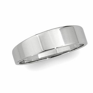 Genuine IceCarats Designer Jewelry Gift 14K White Gold Wedding Band Ring Ring. 06.00 Mm Flat Tapered Band In 14K Whitegold Size 9.5