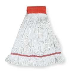 Tough Guy 1TYL7 Wet Mop, Large, White, Looped End