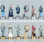 Pewter Civil War Chess Pieces King 3 1/4""