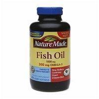 Nature Made Fish Oil 1000mg, 300mg Omega-3, Liquid Softgels