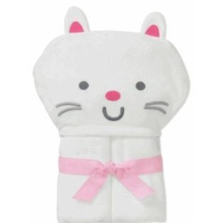 Child of Mine Carter's Baby Hooded Bath Towel - Kitty