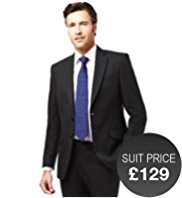 Big & Tall Slim Fit 2 Button Jacket with Wool