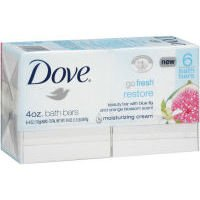 Dove Gofresh Beauty Bar, Restore, 6 Count