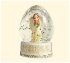 2007 Hallmark JOY TO THE WORLD SNOW GLOBE ~ Angels