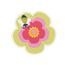 Wall plaque - Flower & bee 1 pack