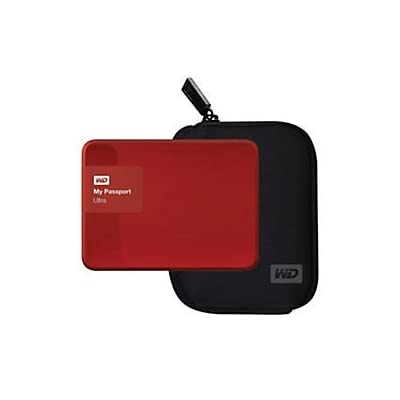 WD(R) My Passport Ultra External USB 3.0 Hard Drive With Case, 2TB, Red