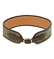 M&S Collection Faux Snakeskin Design Equestrian Waist Belt