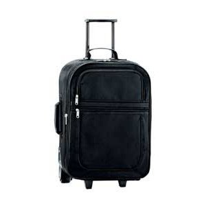 Double Pocket 50cm (20inch) Expandable Trolley Travel Case (Black)