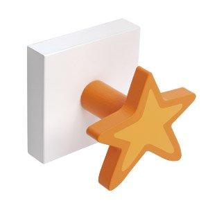 Percha Base Blanca Estrella Naranja