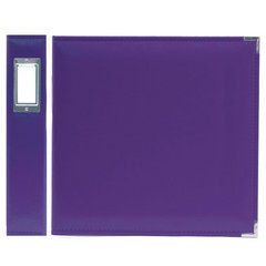 """We R Faux Leather 3-Ring Binder 12""""X12""""-Grape Soda"""