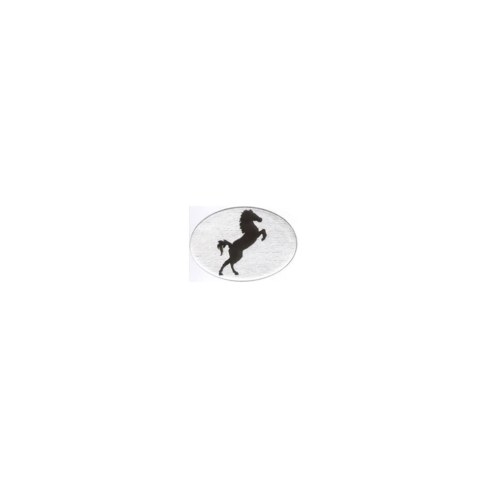 Knockout 409.1 Jumping Horse Hitch Cover white horse on black