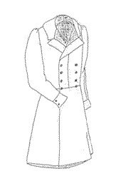 "1840s Double Breasted Frock Coat Pattern - Medium (40-44"")"