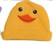 Baby / Infant Fleece Critter Hats ~ Chapeau Pour Enfant : Dog, Panda, Puppy, and Duck (Duck)