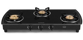 Black Body Gas Cooktop (3 Burner)
