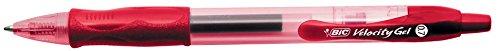 BIC 829159 - Roller velocity gel, 0.7 mm, color rojo