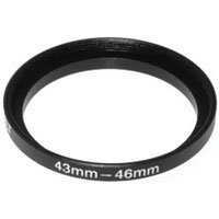 Adorama Step-Up Adapter Ring 43mm Lens to 46mm Filter Size