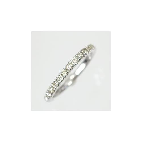 [キュートジュエリー]Cute jewerly ダイヤモンド 指輪 K10WG ダイヤモンド0.15ct ピンキーリング 7