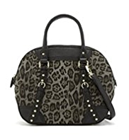 M&S Collection Leopard Print Bowler Bag