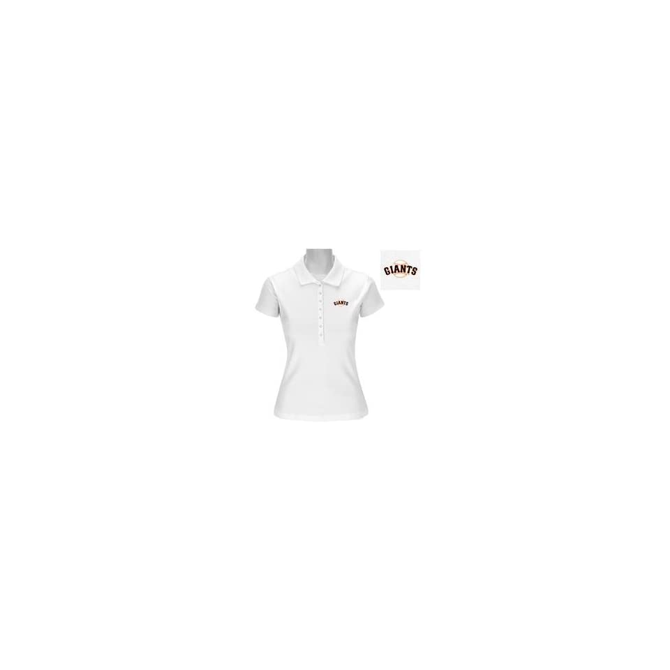 San Francisco Giants Womens Remarkable Polo by Antigua   San Francisco Giants White Medium